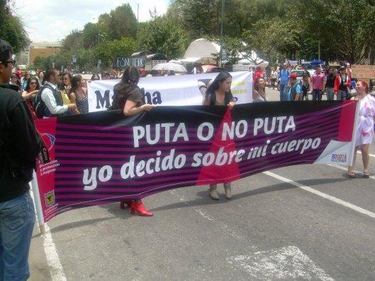 Uno de los slogans principales de la marcha