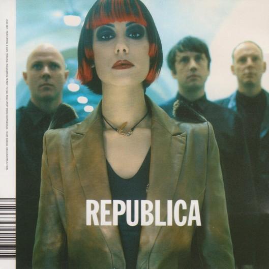Una de las distintas portadas que tuvo el primer larga duración de Republica